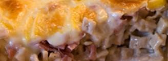 Croziflette au reblochon et jambon cru